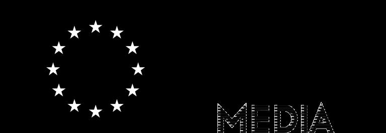 EU flag-Crea EU + MEDIA [B&W] EN